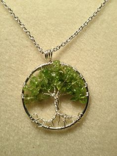 Peridot Tree of Life Birthday Trees Handmade by Just4FunDesign, $27.00