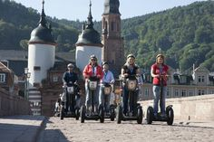 Another old meets new in Heidelberg, Germany. StadtSafari Segway Tours has a 5/5 bubble rating on TripAdvisor!