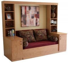 """Slide Away {Sofa} Bed - """"The Ultimate Murphy Bed / Wall Bed Alternative."""" - photos - link to website - compact furniture : tinyhouseblog"""