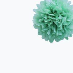 Cool Mint Tissue Pom Pom – Small