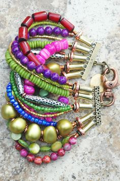 Bracelet | Cuff | Purple | Green | Copper | Exotic | XO Gallery | XO Gallery