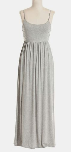 Gray Sleeveless Maxi Dress. Oh the styling possibilities!!!