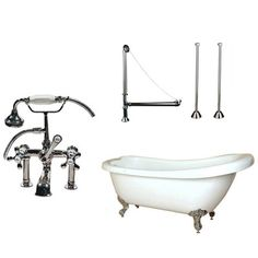 Randolph Morris 67-inch Acrylic Slipper Clawfoot Tub Package with Telephone Faucet 1095 NO TAX NO SHIPPING