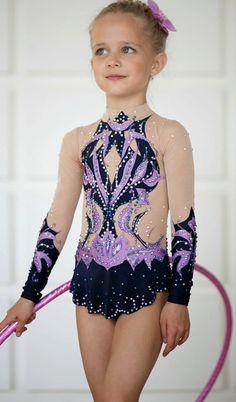 Gimnasia rítmica leotard ice patinaje competencia handmade