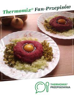 Tatar wołowy - ulubiony :) jest to przepis stworzony przez użytkownika asiazab. Ten przepis na Thermomix<sup>®</sup> znajdziesz w kategorii Dania główne z mięsa na www.przepisownia.pl, społeczności Thermomix<sup>®</sup>.