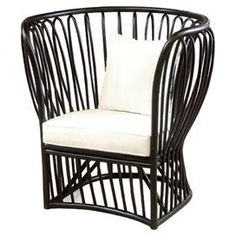 Somerton Indoor/Outdoor Rattan Accent Chair at Joss and Main Contemporary Outdoor Lounge Chairs, Outdoor Chairs, Outdoor Decor, Indoor Outdoor, Outdoor Living, Outdoor Rooms, Living Room Seating, Living Room Chairs, Wicker Furniture