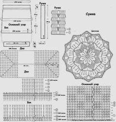 croche: pretty bag