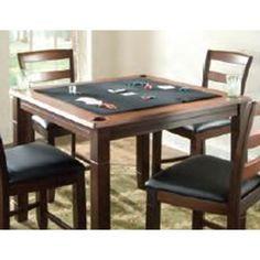 American Heritage Billiards Melrose 2 In 1 Square Pub/Poker Table