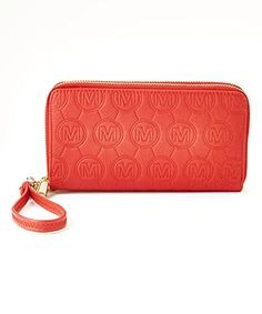 "MKF Collection Designer Embossed Double Zip Wallet with Wristlet Strap (Red). Fashion Designer Wristlet, Embossed Double Zip Wallet,. Fashion Designer Embossed Double Zip wallet is crafted out of high quality faux leather with fabric lining giving it durability for long lasting use. Fashion Designer Embossed wallet is great to carry all your importance like IPhone Android and all your other smartphones, credit cards Cash and Keys etc. Embossed fashion Designer wallet Measures 8"" x 4.5"" x…"