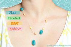 DIY Jewelry DIY Clay Beads Necklace