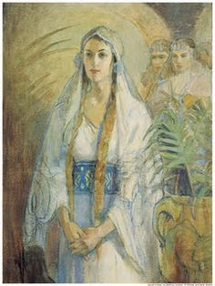 Woman from each era: OT, NT, BoM, and modern.  Old Testament: Queen Esther, by Minerva Teichert  Esther's willing courage was God's tool to save His chosen people.