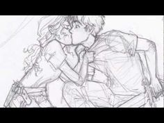 """percabeth [what is a soulmate?] -- guys...GUYS. watch this sappy percabeth video. I am cry now.  :'( ALL BURDGE ART :)  excuse me as I go cry myself to sleep because, oh yea, THEY'RE IN TARTARUS!!! :""""""""""""""""("""