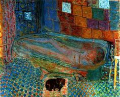 nude_in_the_bathtub_and_small_dog_2, Pierre Bonnard