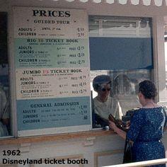 Disneyland 1962 ticket booth
