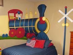 Decoración de Dormitorio de Trenes
