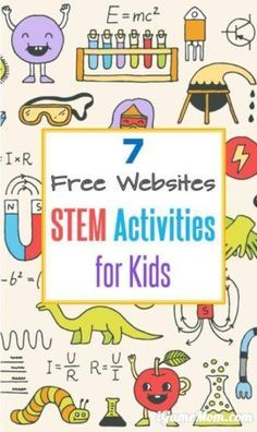 7 Free STEM Websites These free online STEM resources have fun activity ideas for students with fully developed lesson plans for teachers or homeschool parents. Listed out by Science, Techonology, Engineering, Math, and grade level. Stem Science, Preschool Science, Science For Kids, Computer Activities For Kids, Weather Science, Summer Science, Life Science, Steam Activities, Science Activities