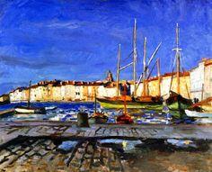 The Port of Saint-Tropez, 1905 / Albert Marquet