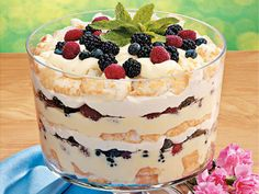 Angel Berry Trifle Dessert for Easter