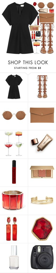 """COCKTAIL"" by queen-laureen ❤ liked on Polyvore featuring Yves Saint Laurent, Sunday Somewhere, Lodis, LSA International, Nude by Nature, NYX, Estée Lauder, Oscar de la Renta, Stella & Dot and Diane Von Furstenberg"