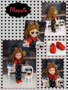 Maddie ~ Mickey Mouse fan - custom Wellie Wisher doll