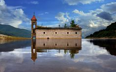 The Flooded Church by Rilind H, #macedonia