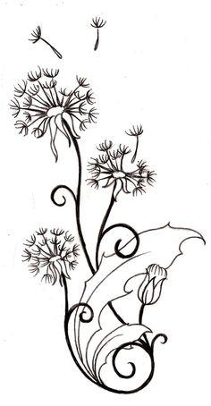 Dandelion Tattoo 1 by ~Metacharis on deviantART