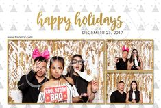 Happy Holidays 01 — Calgary Photo Booth Rental | FOTOMOJI Booth Co. — Templates Photobooth Template, Geometric Trees, Image Layout, Photoshop Elements, New Fonts, Calgary, Holiday Parties, Photo Booth, Happy Holidays