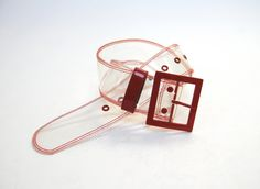clear plastic belt