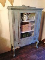 French Provincial Loyalist Hutch Milk Painted