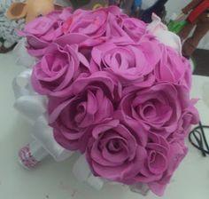CASTELARTE criações com eva: pap buque de rosas em eva