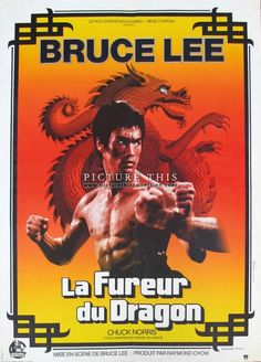 "Picture This Gallery, Hong Kong | Original movie poster for ""Return of the Dragon"", the 1972 Hong Kong martial arts movie written, produced and directed by Bruce Lee."