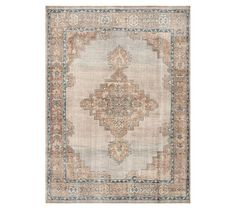 Finn Hand-Knotted Rug - Blue Multi | Pottery Barn