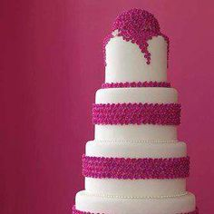 Hot #pink wedding cake - via All About Weddings and Honeymoons.
