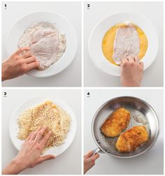 Breading chicken cutlets (which apparently you can freeze for later?)