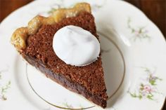 Chocolate Chess Pie Recipe on http://danischellenberg.blogspot.com and http://www.pinterest.com/dani1653/ #food #recipes #delicious