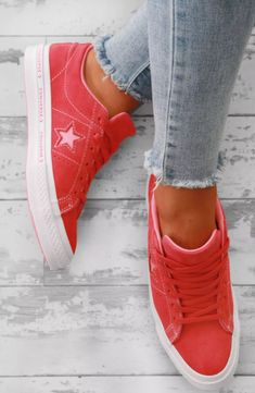 4f0d1485753a55 Converse One Star Coral Suede Trainers - UK 3