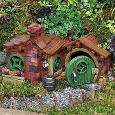 View our Brick Fairy House at Fairy Gardening Australia. Australia's largest range of fairy real estate. Shop online for fairy houses, fairy garden supplies Bristol Houses, Brick Cottage, Cottage House, Fairy Garden Houses, Fairies Garden, Garden Shop, Gnome Garden, Herb Garden, Garden Pots
