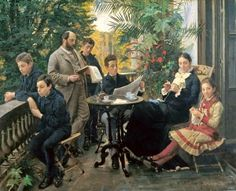 Peder Severin Krøyer : Portrait of the Hirschsprung family