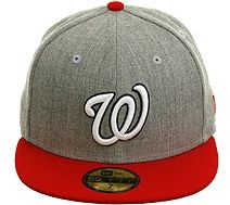 New Era 2Tone Washington Nationals Fitted Hat - Heather Gray 1a8dcab569f
