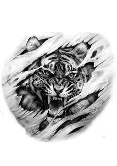 back tattoo - back tattoo back tattoo Wolf Tattoos, Lion Tattoo, Animal Tattoos, Body Art Tattoos, Sleeve Tattoos, Dragon Tattoos, Hand Tattoos, Tiger Drawing, Tiger Art