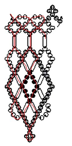 Free pattern for amazing beaded necklace Red Heat.  (Page 3 of 3)