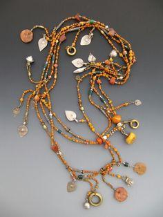Antique glass trade beads..LuciaAntonelli.com