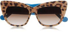 Anna-Karin Karlsson Lunettes de soleil à monture œil-de-chat en acétate à imprimé léopard Alice Goes To Cannes
