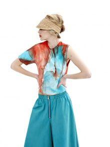 Asymmetric Silk T-Shirt by Dori Tomcsanyi