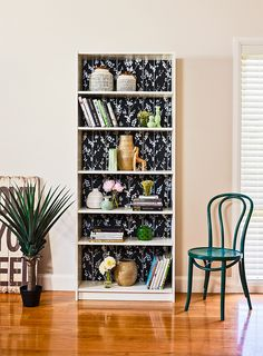 25 DIY Bookcase Makeovers Bookcase makeover, Furniture