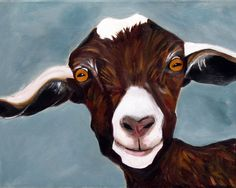 kitchen painting - I love goats! Repost from Kirsten. Happy face goat