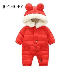 eefcc25ce New Baby Rompers Winter Thick Warm Baby boy Clothing Long Sleeve  Hoodeddresskily