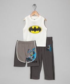 After a day of fighting crime, every little superhero could use a comfy ensemble. Boasting a cool comic-inspired character, little ones can choose from shorts or pants depending on the temperature.