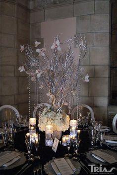 Winter wedding centerpiece ideas. www.triasflowers.com/events