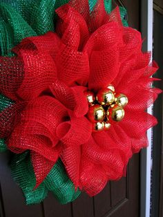 RAZ Christmas & Halloween Decorations Deco Poly Mesh, Ribbon and Wreath Making Supplies at Trendy Tree Christmas Wreaths To Make, How To Make Wreaths, Christmas Crafts, Christmas Decorations, Winter Wreaths, Spring Wreaths, Summer Wreath, Holiday Wreaths, Christmas Ribbon